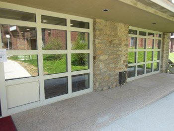 commercial glass window installation
